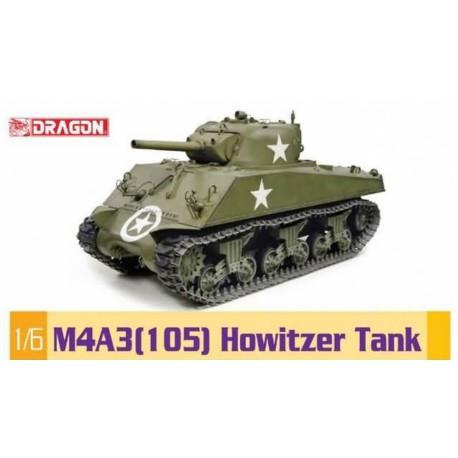 MAQUETTE DRAGON - M4A3 (105) Howitzer Tank- REF JAP DRA 75046- ECH 1/6