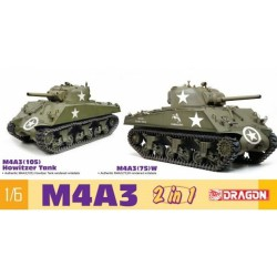 MAQUETEE DRAGON - M4A3 105mm Howitzer Tank M4A3 75W 2 in 1 - REF JAP DRA 75055- ECH 1/6