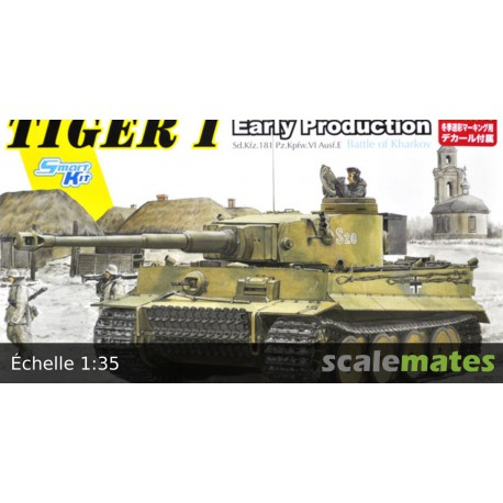 MAQUETTE DRAGON - 1/35 Sd.Kfz 181 Pz.Kpfw VI Ausf E Tiger I Early Production (Battle for Kharkov) - REF JAP DRA 5950 - ECH 1/35