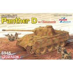DRAGON - 6945 - Pz.Kpfw. V Sd.Kfz. 171 Panther Ausf. D w/Zimmerit 2 in - Echelle 1/35