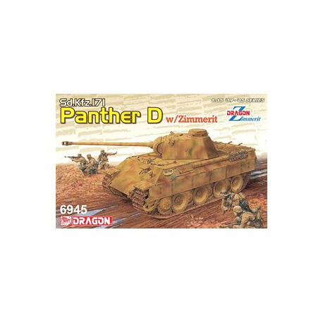 MAQUETTE DRAGON -Pz.Kpfw. V Sd.Kfz. 171 Panther Ausf. D w/Zimmerit 2 in 1 - REF DRA 6945 - ECH 1/35