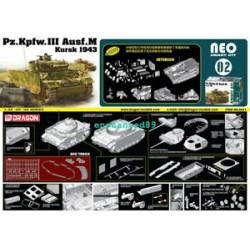 Maquette - DRAGON - Neo Smart Kit 02 Pz.Kpfw.III Ausf. M Kursk 1943 - Echelle 1/35
