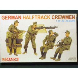 Figurine - DRAGON - German Halftrack Crewmen - Echelle 1/35