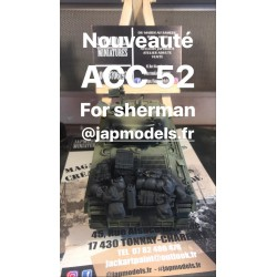 MAQUETTE JAPMODELS - CHARGEMENT FOR SHERMAN- REF JAP ACC52 - 1/35