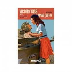 MAQUETTE MENG - US M4A3 76MM WITH FIGURES VICTORY KISS LIMITED EDITION - REF MEN ES006 - ECH 1/35