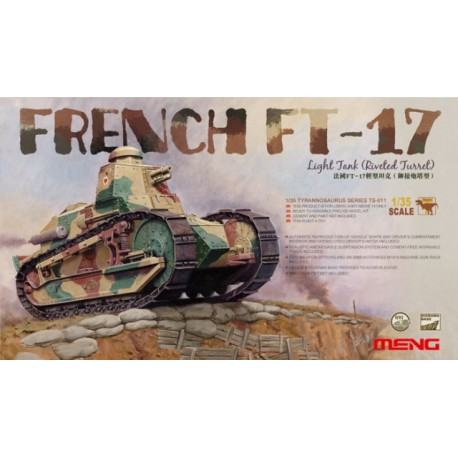 MAQUETTE MENG - FRENCH FT17 LIGHT TANK (RIVETED - MENGTS011 * ECH 1/35 TURRET) -