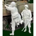 FIGURINES NEMROD - US. Private 30th US ID Normandie 1944 (2 fig) -REF N35111 - ECH 1/35