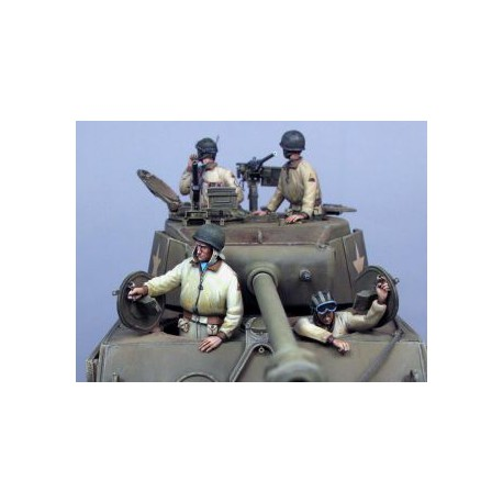 FIGURINES NEMROD - US Tean Sherman Allemagne (4 fig.) -REF N35106 - ECH 1/35
