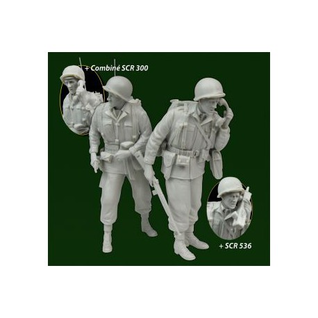 FIGURINES NEMROD - US. Officier & Radio Allemagne 1945 -REF N35105 - ECH 1/35