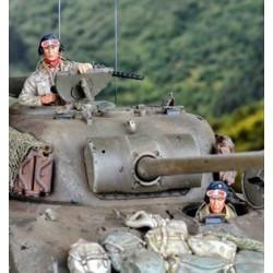 """FIGURINES NEMROD - US Crew in """"Tank Suit"""" - Décembre 1944 (2 fig) -REF N35091 - ECH 1/35"""