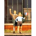 FIGURINES NEMROD -Enfants - Normandie juin 1944 (2 fig) -REF N35070 - ECH 1/35