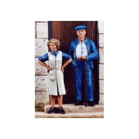 FIGURINES NEMROD -Homme & Femme civil - Juin 1944 (2 fig) -REF N35056 - ECH 1/35