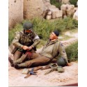 FIGURINES NEMROD - Infirmier et blessé de la 30 ID US - Juin 1944 (2 fig) -REF N35054 - ECH 1/35