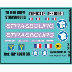 MAQUETTE DECALS - RBFM TDM10 - STRASBOURG - ECH 1/35