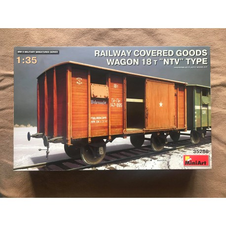 MAQUETTE MINIART - RAILWAY COVERED 18 - REF MINI35288 - ECH 1/35
