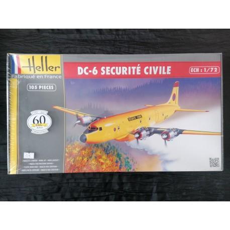 MAQUETTE HELLER - DOUGLAS DC 6 SECURITE CIVILE - REF HEL 80330 - ECH 1/125