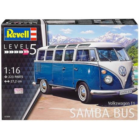 MAQUETTE REVELL -VOLKSWAGEN T1 SAMBA BUS - REF REV07009 - ECH 1/16