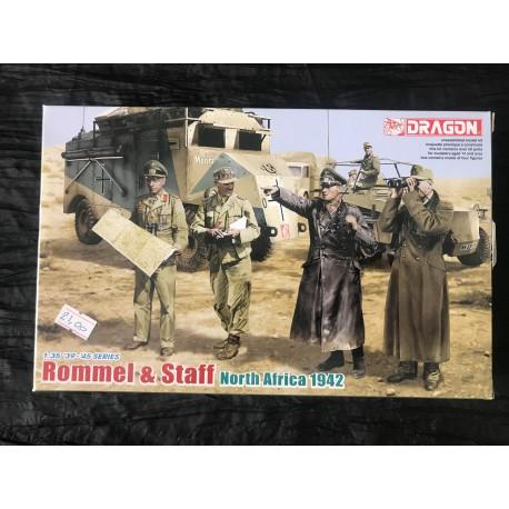Maquette DRAGON - ROMMEL AND STAFF - REF : jap drag 6723 - ech 1/35