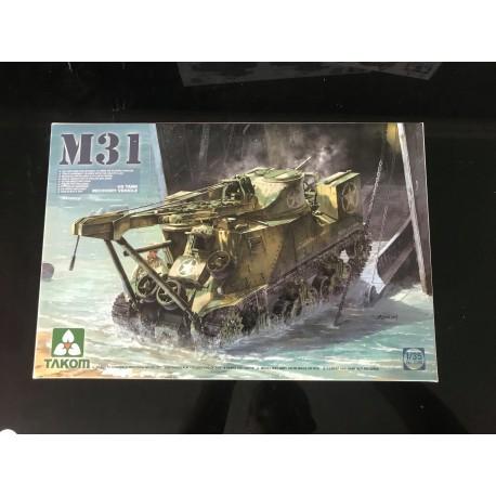 MAQUETTE TAKOM - M31 US TANK RECOVERY- REF JAP TAK 2088 - ECH 1/35