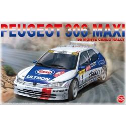 MAQUETTE NU-NU -PEUGEOT 306 MAXI 1996 Monte carlo Rally - ref PN-24009 - ech 1/24