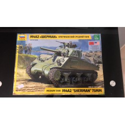 MAQUETTE ZVEZDA - SHERMAN M4A2 WEPMAH - REF JAP ZVEZ 3702 - ECH 1/35