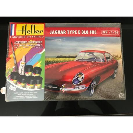 MAQUETTE HELLER - JAGUAR TYPE E 3L8 FHC - REF JAP HEL 56709 - ECH 1/24