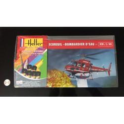 MAQUETTE HELLER - ECUREUIL BOMBARDIER D EAU - REF JAP HELL 80 485 - ECH 1/48