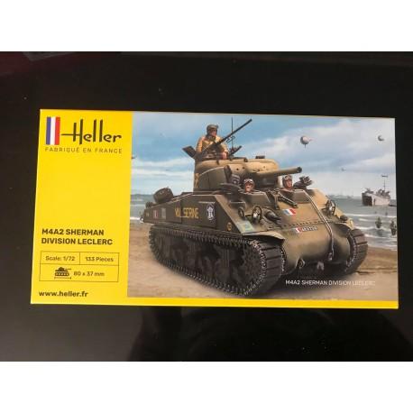 MAQUETTE HELLER - M4A2 SHERMAN DIVISION LECLERC - REF JAP HELL 76 894 - ECH 1/72