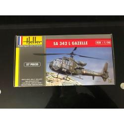 MAQUETTE HELLER - SA 342 L GAZELLE - REF JAP HEL 80486 - ECH 1/50