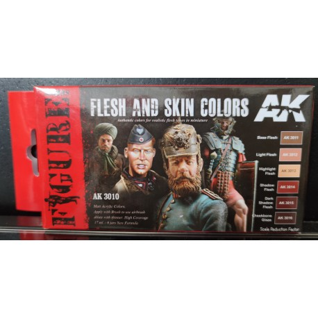 PEINTURE AK - Flesh And Skin Colors