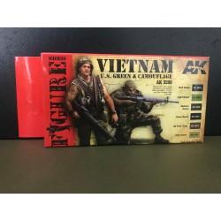 PEINTURE AK - Vietnam U.S. green & camouflage