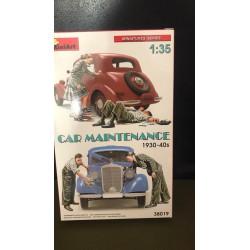MAQUETTE MINIART - CAR MAINTENANCE- REF JAP MINI 38019 - ECH 1/35