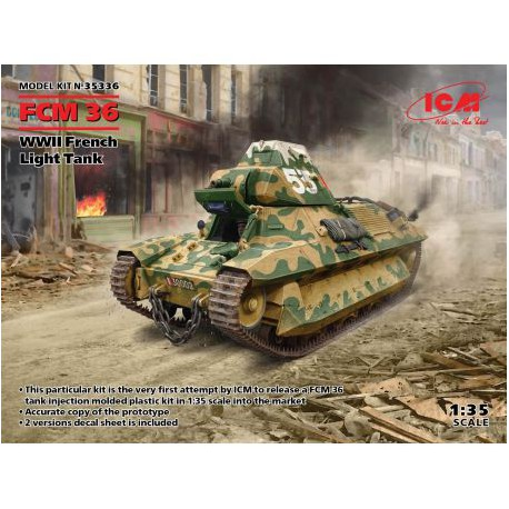 MAQUETTE ICM - FCM 36 - WWII FRENCH LIGHT TANK REF JAP ICM 35336 - ECH 1/35