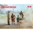 FIGURINES ICM - WW II FRECH TANK CREW - REF JAP ICM 35647 - ECH 1/35