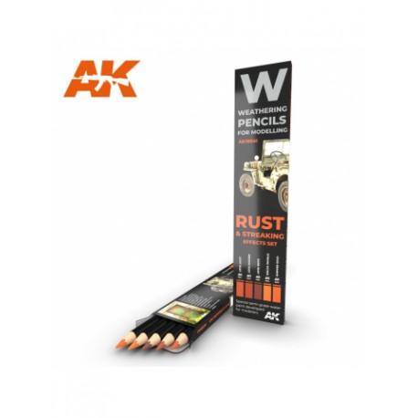 PENCILS SET - AK10041 - RUST & STREAKING
