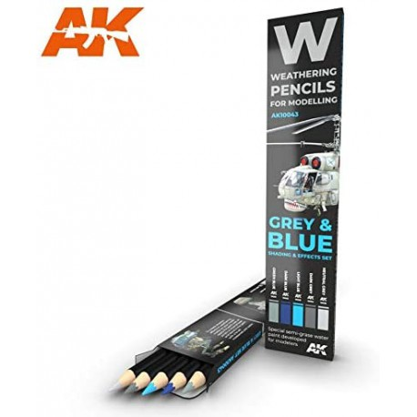 PENCILS SET - AK10043 - GREY & BLUE SHADING
