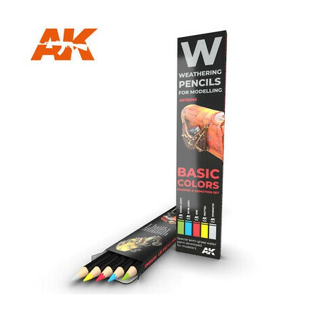 PENCILS SET - AK10045 - BASIC COLORS & SHADING DEMOTION