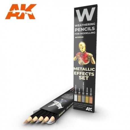 PENCILS SET - AK10046 - METALLIC EFFETS