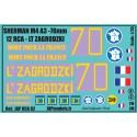 Décals 2 DB - JapModels - SHERMAN LT ZAGRODZKI - 12 RCA - Echelle 1/35