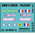 Décals 2 DB - JapModels - AMM 8 - PALEGNEY - RMSM - Echelle 1/35