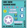 Décals 2 DB - JapModels - GMC- BLANCHE NEIGE - RBFM - Echelle 1/35