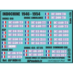 Décals INDOCHINE - JapModels - INDOCHINE 1946 1954 - Echelle 1/35