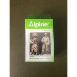 MAQUETTE ALPINE MINIATURE - USAFV CREW - REF JAP ALP35114 - ECH 1/35