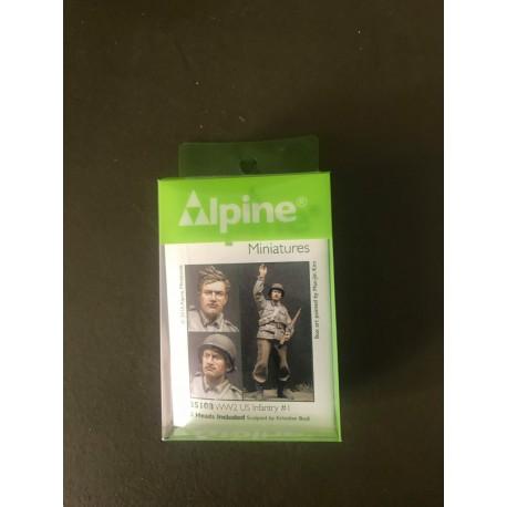 MAQUETTE ALPINE MINIATURE - US INFANTRY - REF JAP ALP35108 - ECH 1/35