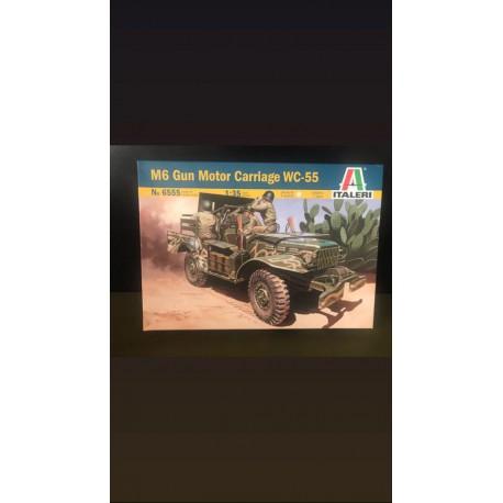 MAQUETTE ITALERI - M6 GUN MOTOR CARRIAGE WC -55 - REF JAP ITAL 6555 - ECH 1/35