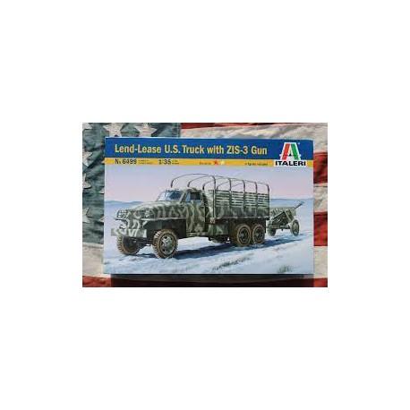 LEND - LEASE US TRUCK WITH ZIS -3 GUN - REF JAP ITAL 6499 - 1/35