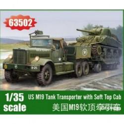 US-M19-TANK-TRANPORTER-WITH-SOFT-TOP-CAB-JAPILK63502-ECH1/35