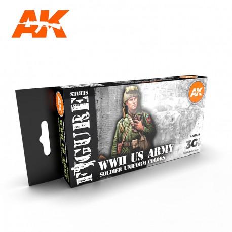 PEINTURE AK-WwII Us Army Soldier Uniform Colors 3G