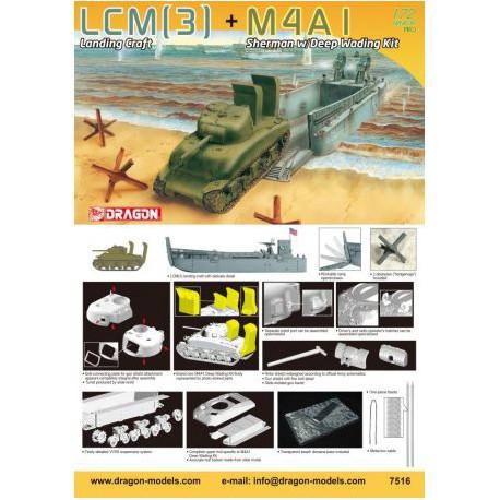 LCM(3)-LANDING-CRAFT-M4A1-JAPDRA7516-ECH1/72