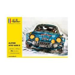 MAQUETTE HELLER - ALPINE A 110 1600 S - ECH 1/24 - REF 80745